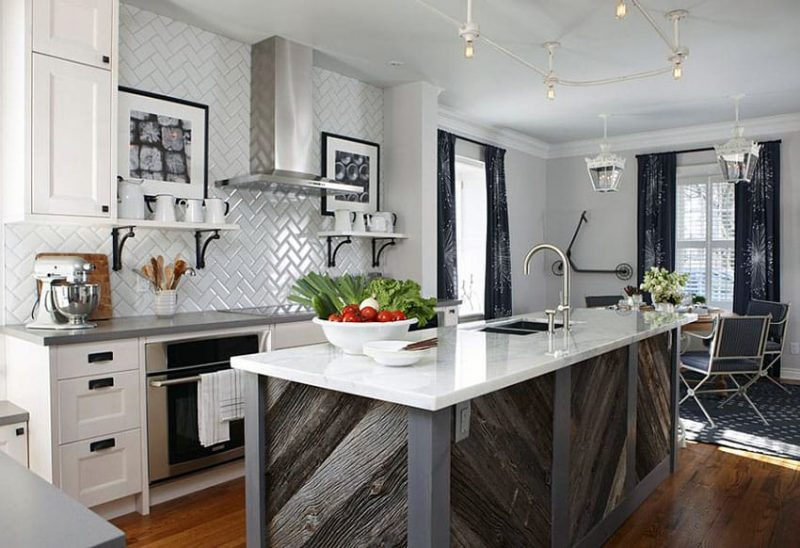 23 Reclaimed Wood Kitchen Islands Pictures