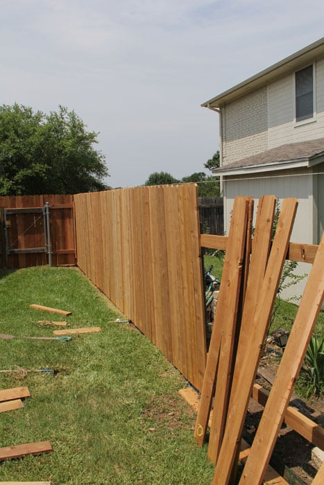 Installing a cedar wood fence