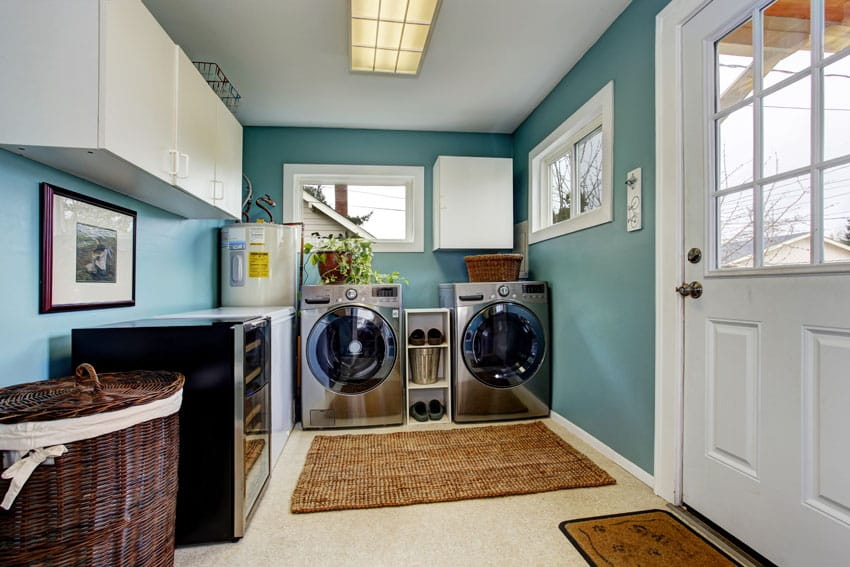 Laundry and mudroom storage