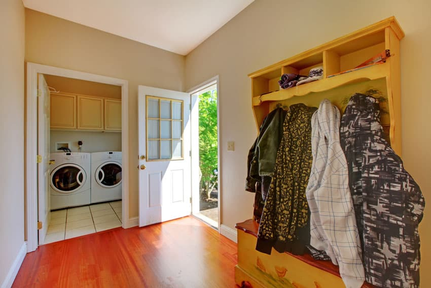 Mudroom cabinet and laundry room