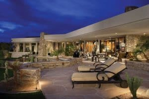 contemporary-patio-with-flagstone-patio-in-the-backyard-on-a-luxury-home