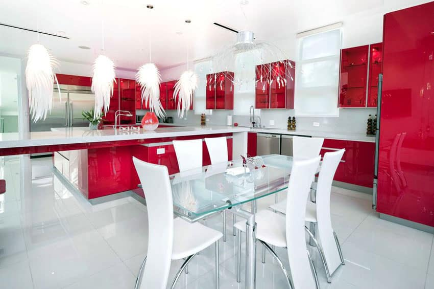 Modern Red Kitchen Ideas Cool Decorating Ideas