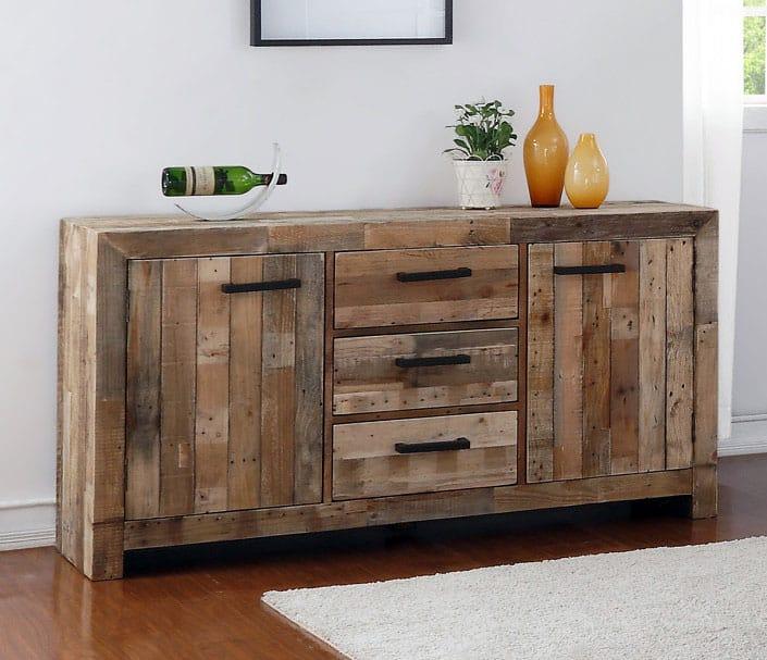 Wood pallet sideboard buffet cabinet