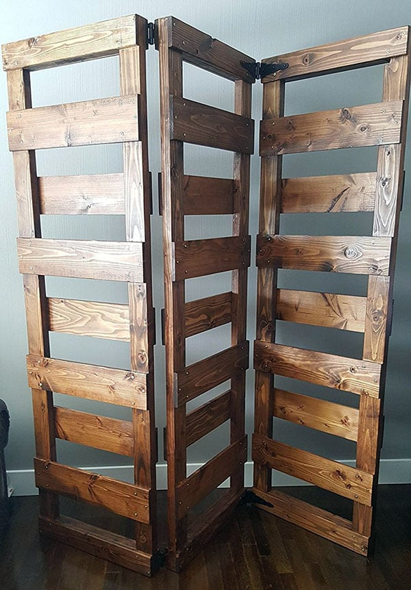 Wood pallet wall divider