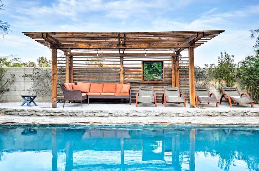 DIY pool pergola