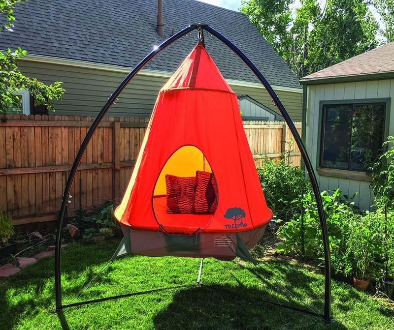 Treepod hanging cocoon tent