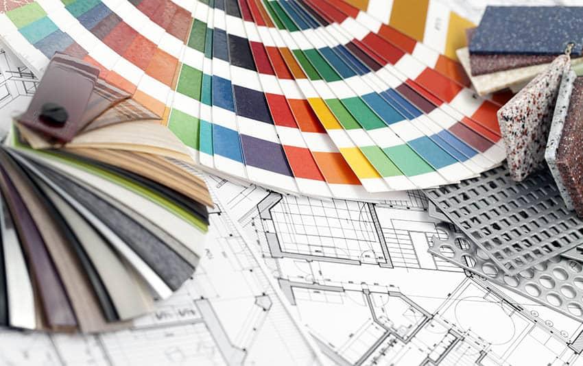 Color wheel interior design