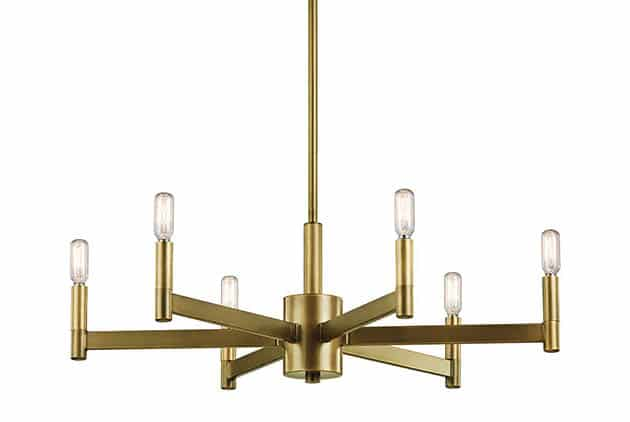 Modern candle style chandelier