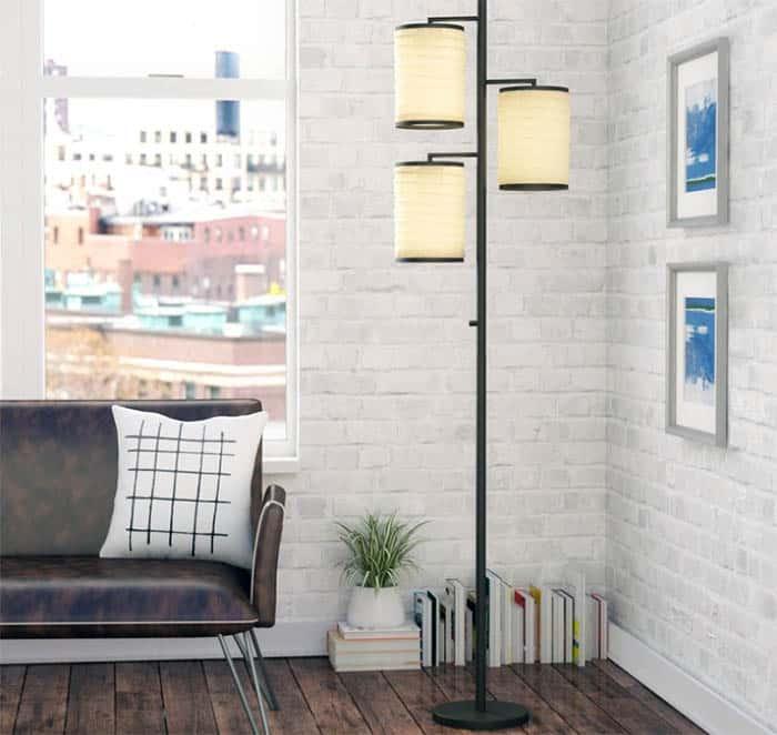 Japanese style paper lantern floor light