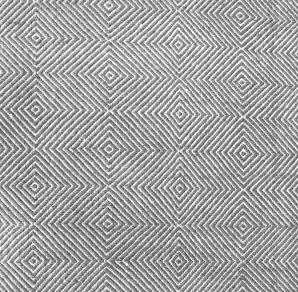 Gray cotton fiber rug
