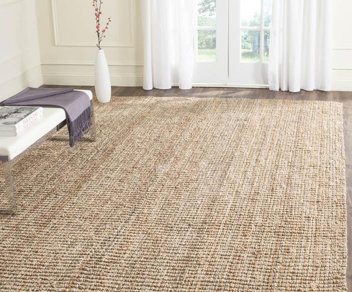 Natural sisal fiber area rug