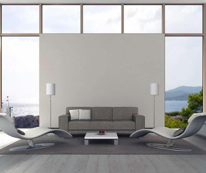Polyester carpet in modern living room