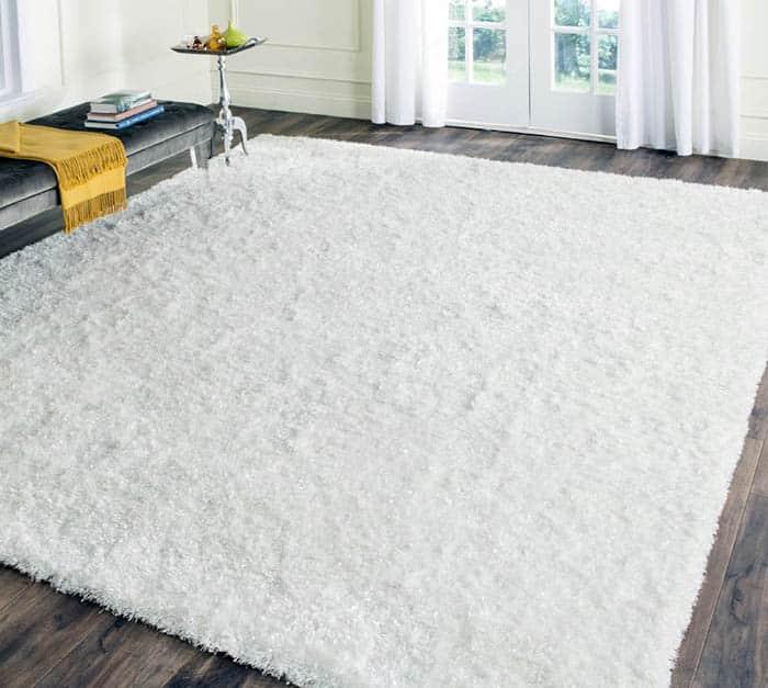 White acrylic area rug