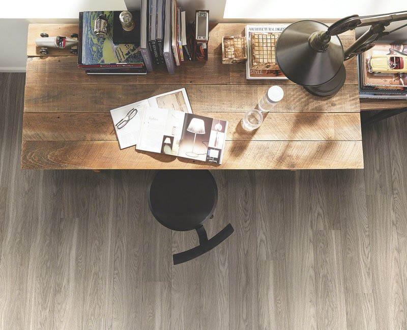 Wood plank style vinyl flooring