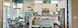 coastal-kitchen-with-decor-and-vase-above-cabinets