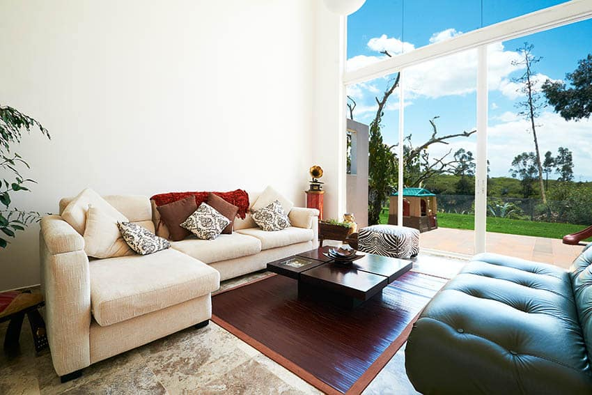 Living room with outdoor access to patio