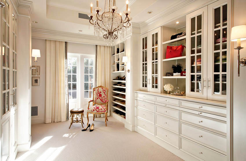 Walk in closet with french doors