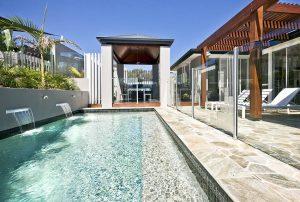 Swimming Pool Waterfalls (Design Ideas)