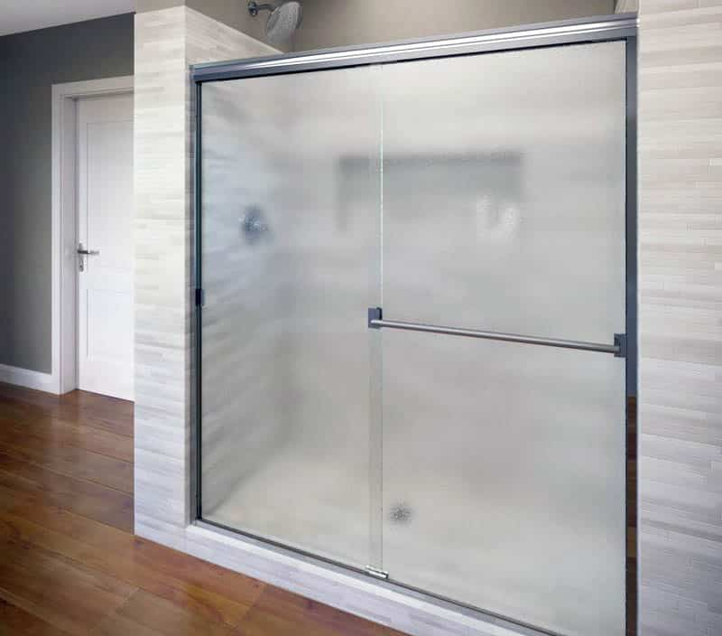 Rain glass sliding shower door