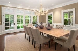 Beautiful Dining Rooms with French Doors