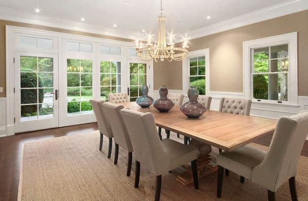 Beautiful Dining Rooms With French Doors Designing Idea