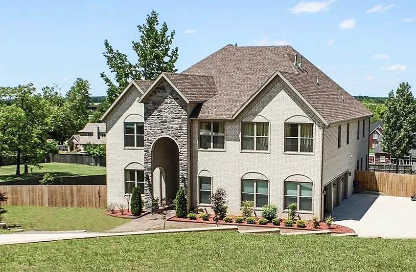 House with fiberglass shingles