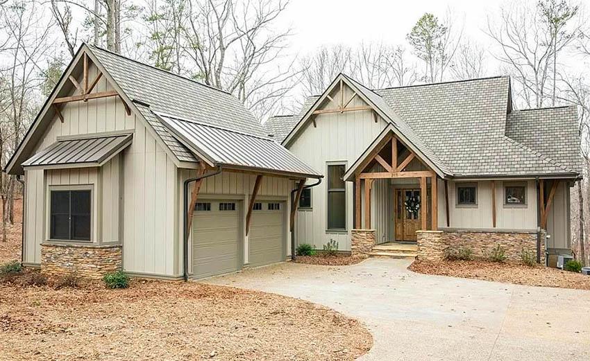 House with slate shingles