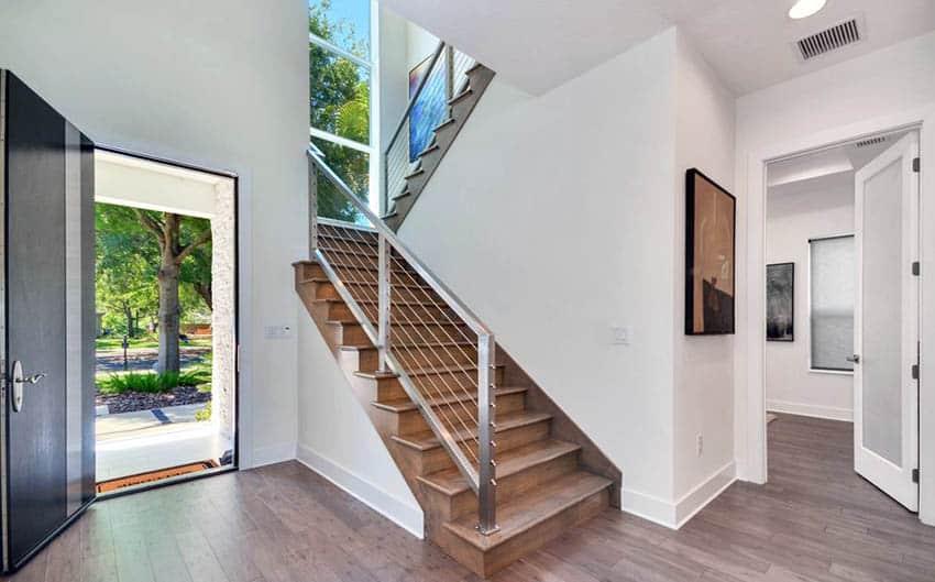 Modern aluminum staircase railing