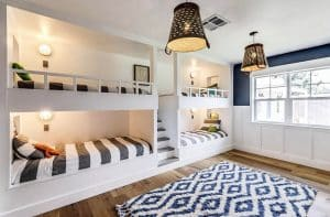 contemporary-built-in-bunk-beds-in-guest-room