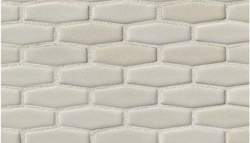 Ceramic elongated hexagon tile