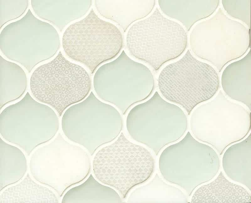 Glass mosaic ogee tile