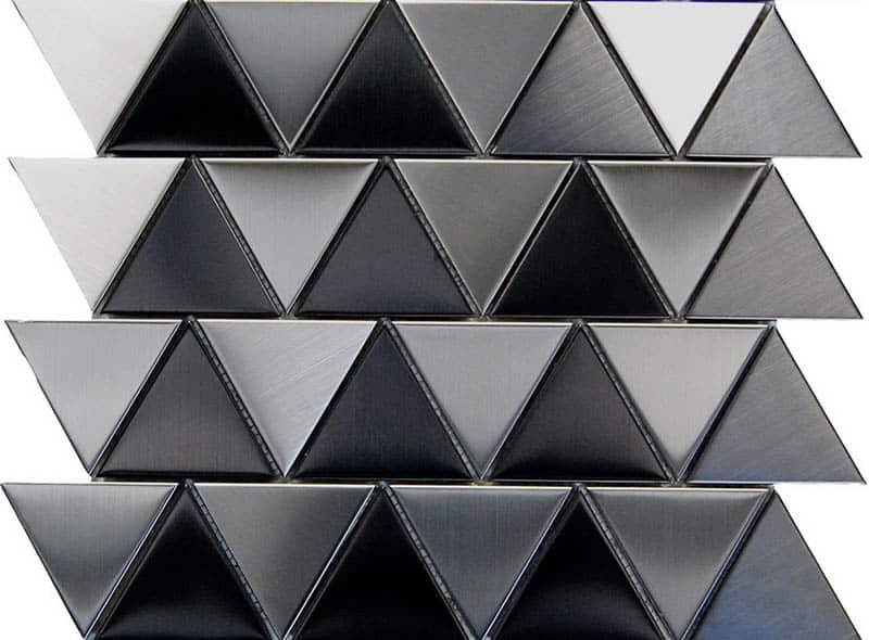 Metal triangle tile