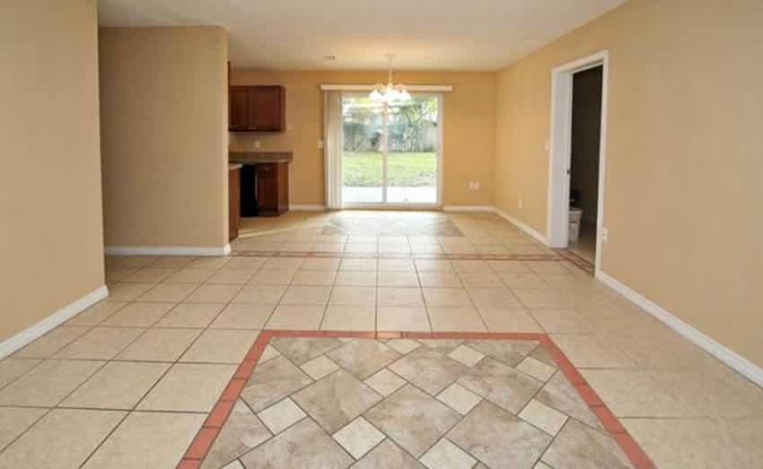 Hopscotch tile pattern inlay