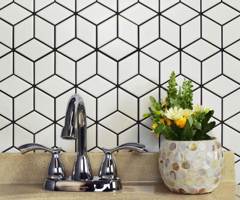 Porcelain diamond tile