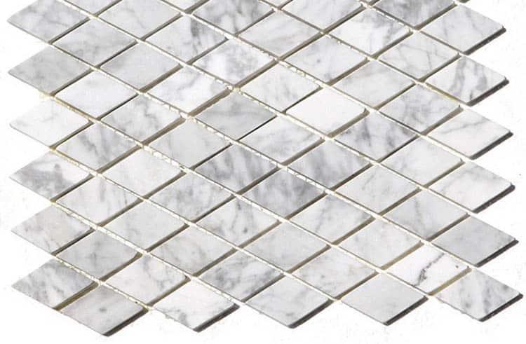 Rhomboid mosaic tile