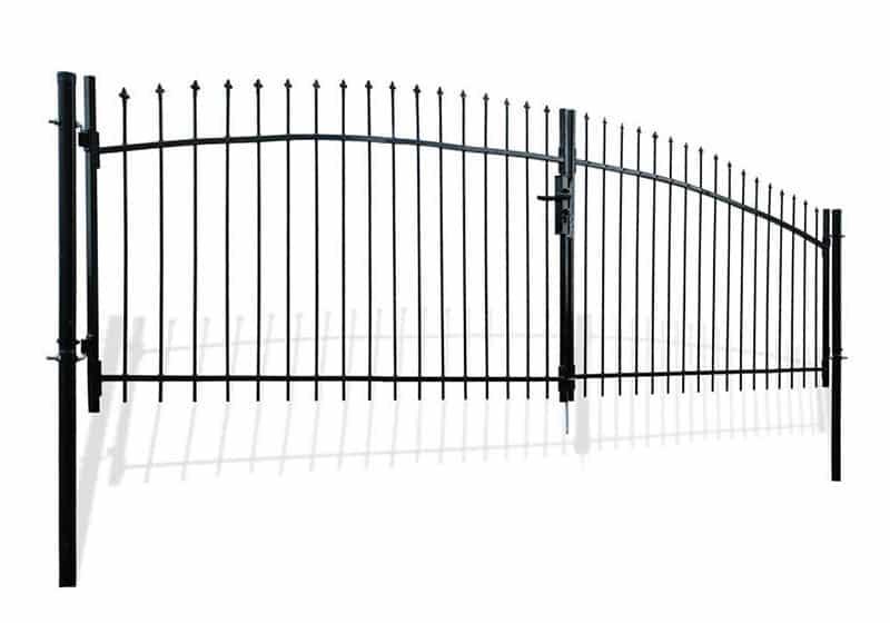 Portable driveway gate kit