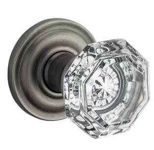 Crystal privacy door knob