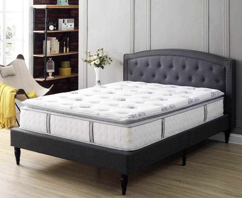 hybrid mattress with gel memory foam and pillowtop