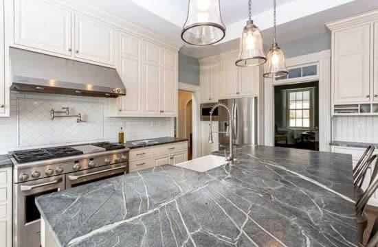 White Kitchen Cabinets With Dark Countertops Designing Idea