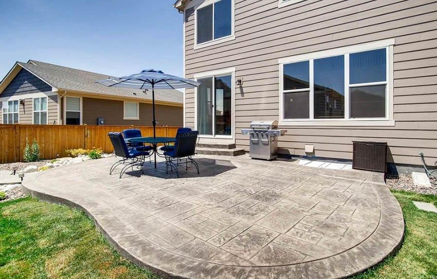 Stamped Concrete Patio (Design Ideas) - Designing Idea