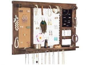 Corkboard jewelry hanger