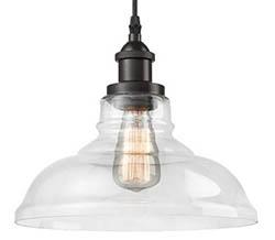 Edison style glass pendant light