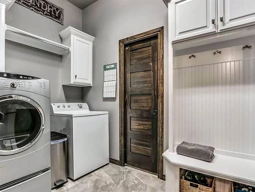 Laundry room mud room combo