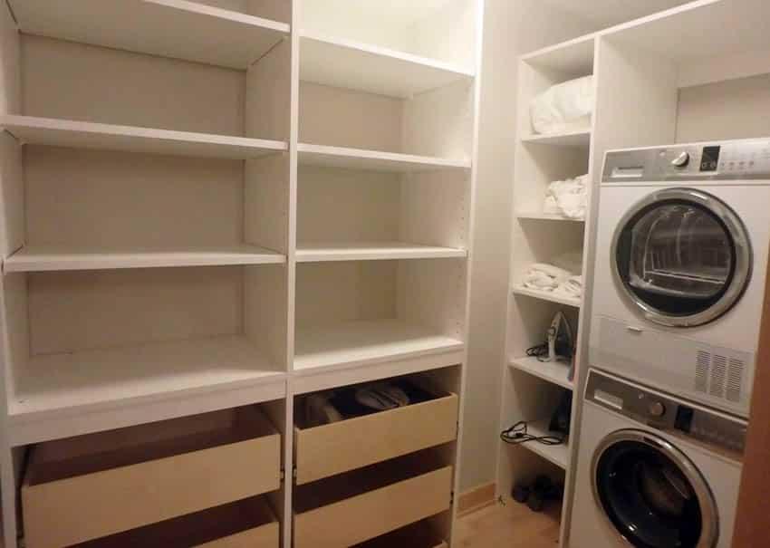 Laundry room walk in closet