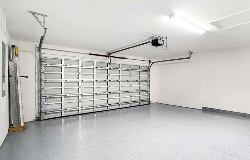Garage door opener on sectional garage