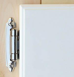 Overlay flush kitchen cabinet hinge