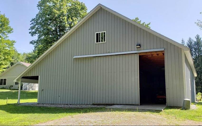Slide to side garage door