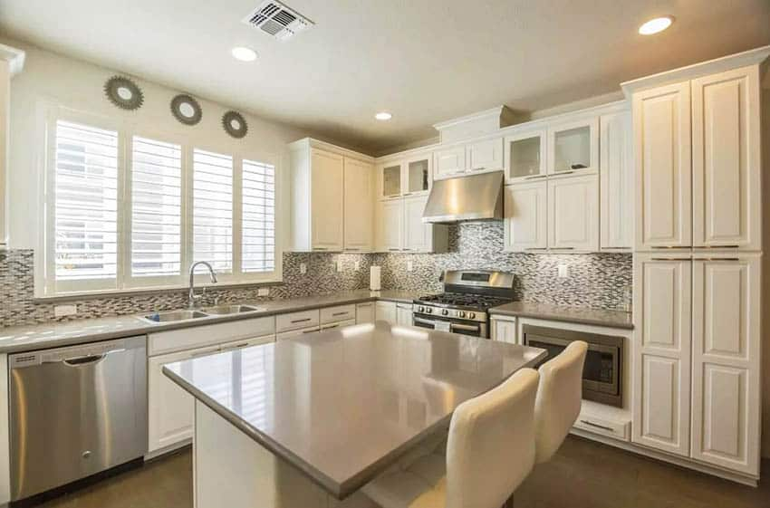 beige-kitchen-with-gray-quartz-countertops