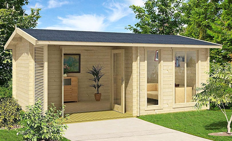 Premade wood tiny house