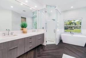 contemporary-bathroom-with-steam-shower